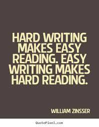 hard writing